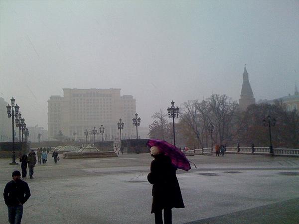 Снегопад, Манежная площадь