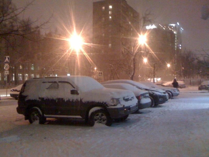 Снегопад, 07.12.2009