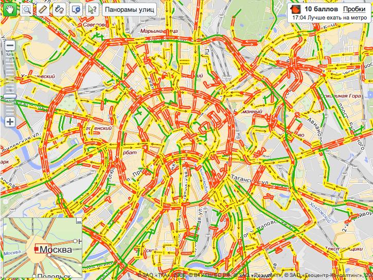 Пробки, Москва, 07122009