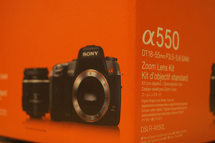 Sony Alpha DSLR-A550 Kit 18-55