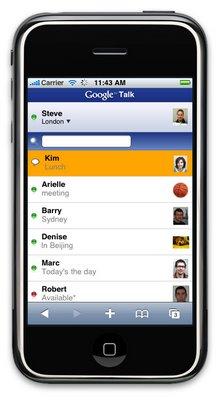 Google Talk для iPhone